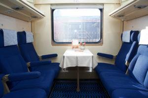 Фото салона поезда Невский Экспресс